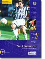 Matchday Programme from the opening of the new Birmingham Road End Stand against Bristol City on 26/12/1994